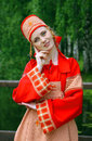 Beautiful  Woman In Russian Folk  Suit Royalty Free Stock Photo - 31824185
