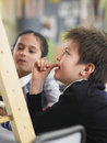 Students Using Abacus In Classroom Stock Photography - 31829252