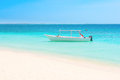 White Boat At The Beach Stock Photos - 31857563