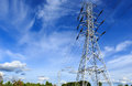 High Voltage Post.High-voltage Tower On Blue Sky Royalty Free Stock Images - 31858819
