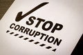 Stop Corruption Paper Royalty Free Stock Images - 31860909