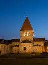 Church In Saint-Sulpice, Switzerland After Sunset Royalty Free Stock Images - 31871859