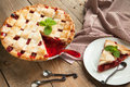 Strawberry And Rhubarb Pie Royalty Free Stock Photo - 31882915