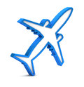 Blue Airplane Icon Royalty Free Stock Photography - 31889817