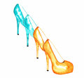 Stiletto High Heels Watercolor Royalty Free Stock Photo - 31890115