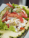 Thai Seafood Salad In A Pineap Stock Photography - 3192012