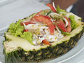 Seafood Salad In A Pineapple Royalty Free Stock Images - 3192109