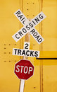 Railroad Crossing Royalty Free Stock Photos - 3196608