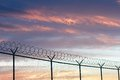 Barbed Wire Fence Royalty Free Stock Photo - 31902625