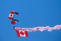 Canadian Forces Skyhawks Parachute Team Royalty Free Stock Photography - 31908887