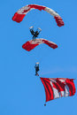 Canadian Forces Skyhawks Parachute Team Royalty Free Stock Images - 31908899