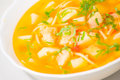 Fish Soup With Vegetables And Pasta Royalty Free Stock Photography - 31912957