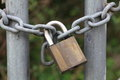 Padlock On Chain Close-up Stock Photo - 31934020