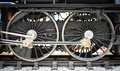 Grunge Old Steam Locomotive Wheel And Rods Stock Image - 31944401