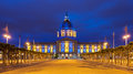 San Francisco City Hall In Blue And Gold Royalty Free Stock Image - 31951076