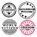 Freedom Stamps Series Stock Images - 31954044
