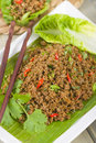 Larb - Lao Minced Beef Salad Royalty Free Stock Photo - 31971805
