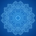 Ornamental Round Blue Lace Pattern Stock Photography - 31979092