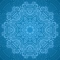 Ornamental Round Blue Lace Pattern_1 Royalty Free Stock Photo - 31980945