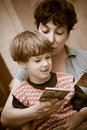Mother And  Boy Read The Book Royalty Free Stock Photo - 3207705