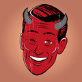 Winking Cartoon Devil Stock Images - 32003794