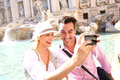 Couple Taking Picture In Rome Royalty Free Stock Images - 32012729