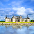 Chateau De Chambord, Unesco Medieval French Castle And Reflection. Loire, France Royalty Free Stock Images - 32014999