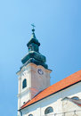 Church Of Holy Cross  (Church Of Virgin Mary), Spire. Devin, Bra Royalty Free Stock Photo - 32015635