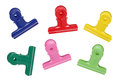 Colorful Binder Clips Royalty Free Stock Images - 32022739