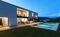 Modern Villa With Pool Royalty Free Stock Photos - 32028128