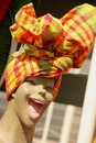 Caribbean Head Wrap Stock Images - 32028204