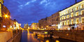 Night City. Canals Of St. Petersburg Royalty Free Stock Photos - 32033758