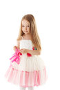 Smiling Pretty Little Girl With Long Brown Hair Stock Images - 32042164