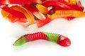 Colorful Fruity Gummy Worm Candy Stock Photo - 32061840