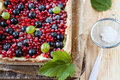 Colorful Summer Berry Pie, Top View Stock Images - 32063854