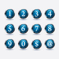 Set Of Button With Number Royalty Free Stock Photography - 32069127