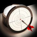 Dart Target Shows Focused Successful Aim Stock Photography - 32074552