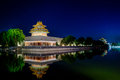 The Turret Of The Forbidden City At Dusk In Beijing,China Royalty Free Stock Image - 32077926