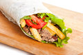 Beef Burrito With Peppers, Fried Potato And Tomato Royalty Free Stock Images - 32099369