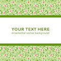 Abstract Colorful Flower Ornamental Border Vector Stock Image - 32099621
