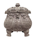 Ancient Chinese Pot Isolated. Royalty Free Stock Photo - 32103895