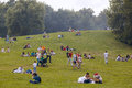 People Have A Rest At The Kolomenskoe Park Stock Image - 32115431