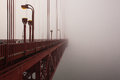The Detail Of Golden Gate Bridge In The Fog Royalty Free Stock Photo - 32122555