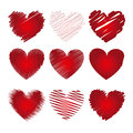 Hearts Icons Stock Photography - 32136552