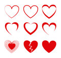 Hearts Icons Stock Photography - 32136562