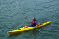 Unknown Tourist Riding Sea Kayak In Bar Harbor, Maine Royalty Free Stock Photography - 32139957