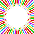 Circle Of Colored Pencils Royalty Free Stock Photography - 32183677