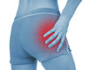 Sore Pelvis, Shown Red, Keep Handed Royalty Free Stock Photography - 32198607