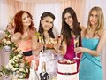 Group People At Hen-party. Royalty Free Stock Images - 32199949