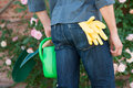 Gardener With Gardening Tools In Hand Stock Images - 32227144